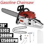 4.0HP 20'' Bar 52CC Gasoline Chainsaw Gas Powered Wood Cutting Chain Saw USA