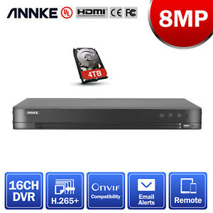 ANNKE H.265+ 4K 8MP HD 5-in-1 DVR Video Recorder for CCTV Security Camera System