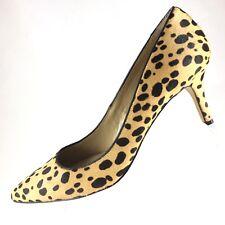 "ANN TAYLOR Calf Hair Pumps Womens 8.5 M Pointed Toe Animal Print Shoes 3"" Heels"