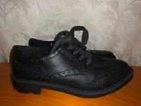 ROCKET DOG Wing Tip Oxfords Saddle Black Loafer Leather Women Shoes Sz 8.5 👣b11