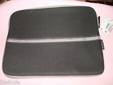 "BLACK/GREY  NOTEBOOK LAPTOP SLEEVE CASE CARRY BAG POUCH COVER 13"" BY TARGUS  NWT"
