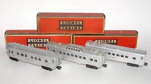 Lionel Postwar # 2432 2434 2436 Red-Letter Passenger Cars + BOXES (DAKOTApaul)