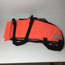 "Fido Float Small Dog (18-22"" Girth) Orange Life Vest Water Safety Swim Jacket"
