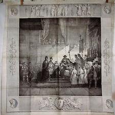 Godefroy ENGELMANN (1788-1839) LITHOGRAPHIE sur SOIE, SACRE de CHARLES X, 1825