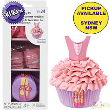 WILTON BALLERINA DANCE BALLET PARTY 48pc CUPCAKE KIT BAKING CUPS SPRINKLES PICKS