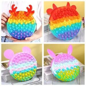 Pop push Bubble Simple Dimple Sensory Fidget Toy Purse Silicon Handbag