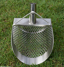 [Pre-ORDER] SITO- 200mm Wide (Hexagonal Holes) Stainless Steel Beach Sand Scoop