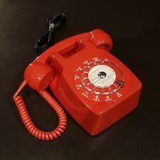 Rare Téléphone vintage ☎️ S63 loft mural rouge à cadran converti box internet