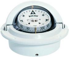 Ritchie Boat Marine Voyager Compass Flush Mount Designer White F-83W
