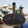"18"" 32lb Umbrella Base Stand Market Patio Yard Outdoor Cast Stone Standing"