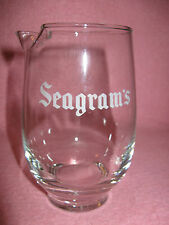 Seagram's Martini Cocktail Mixer Glass Seagram's Cocktail Mixer