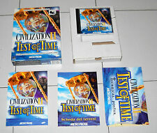 Gioco Pc Cd CIVILIZATION II 2 TEST OF TIME ITA Box MicroProse 1999 Sid Meier's