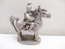 Spoontiques Pewter Knight On Horse