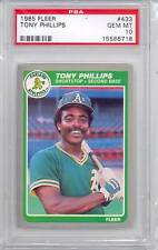 1985 Fleer Tony Phillips (433) (Population of 1) PSA10 PSA
