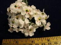 Vintage Millinery Flower Petite Organdy Lot 12 bloom cluster NM5 White