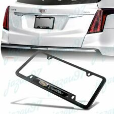 NEW 1PCS For CADILLAC Black Metal Stainless Steel License Plate Frame