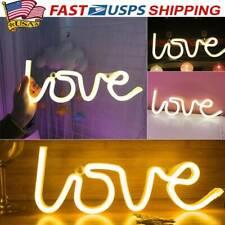 3D Love Neon Sign Light Led Wall Light Visual Artwork Bar Lamp Home Shop Decor