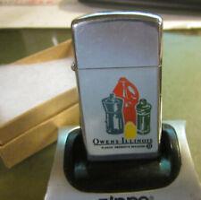 Vintage 1966  Super Rare Owens-Illinois plastic products slim ZIPPO Lighter Nice
