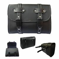 2Fit™ Motorcycle Saddle Luggage PU Leather Side Tool Bag Storage Harley