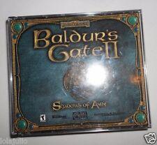 Vtg 2000 Baldur's Gate II 2 Shadows of Amn 4 Disc cd-roms Video Game PC Bioware