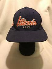 d7b548f839b6 University Illinois Fighting Illini Script Nike Team Sports Snapback Hat Cap