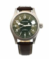 Hamilton Khaki H694190 Gray Dial Steel 38mm Leather Manual Wind Wrist Mens Watch
