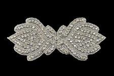 Sew Iron On Hotfix Rhinestone Applique Bridal Wedding Trim Belt Crystal Motif 3