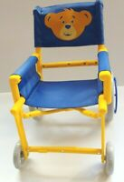"Build a Bear Workshop Foldable Wheelchair Blue and Yellow Also fits 18"" Dolls"