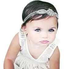 Girls Baby Infant Princess Flower Girl Rhinestone Hair Band Headband Headwear