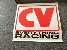 Nascar Authentic CV Racing Race Car LARGE Contingency  Decals Sticker
