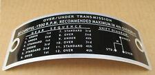 Sherman Transmission Plate For Ford Trans 630 631 640 641 700 701 740 741 800