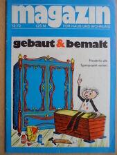 MAGAZIN FÜR HAUS UND WOHNUNG 12 - 1972 gebaut & bemahlt Streichereien Hausbau