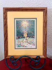 "Mary Engelbreit Framed Wall Hanging Art Print ""Live In The Light"" ~Lovely~"