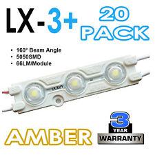 20 x lx-3+ 5050smd LED segno che i moduli 160 ° iniezione modellata-Amber