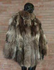 Сappotto in PELLICCIA di murmasky fin raccoon fur coat fourrure peltz giacca