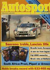 AUTOSPORT OTTOBRE 13th 1983 * Rally San Remo *
