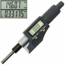 "Digital Micrometer Head Electronic LCD display Inch mm Metric 0-1""/0.00005''"
