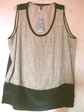 $338 BNWT EILEEN FISHER Sequined Rivulet on Silk Crepe deChine ROSEWATER Tank 1X