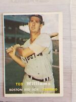 1957 TOPPS TED WILLIAMS #1 BOSTON RED SOX EX EX+ Nice card