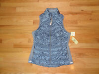 New  Womens Tangerine Lightweight Stretch Down Puffer Vest Running Blue S $78