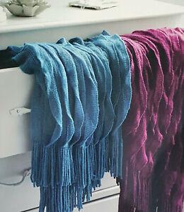 Knitted Bed Runner 220x50cm