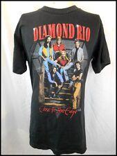 Vintage 90s Black Cotton Diamond Rio Close To The Edge USA Country Rock T-shirt