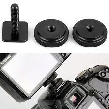 1/4 Inch Dual Nuts Tripod Mount Screw to Flash Camera Hot Shoe Adapter Tool
