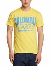 Fruit of the Loom Small Yellow Football Colombia Regular Fit T Shirt
