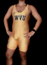 Yellow Medium Nike WVU Wrestling Singlet