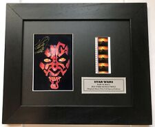 More details for star wars ray park darth maul - reproduction signature + 35mm film cells
