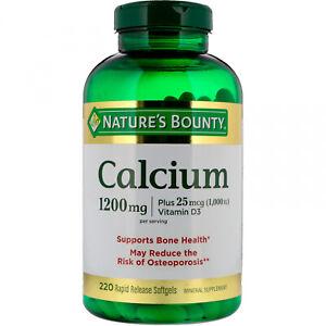 Nature's Bounty, Calcium Plus Vitamin D3, 1,200 Mg, 220 Rapid Release Softgels