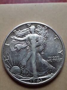1943-S Silver Walking Liberty Half Dollar.