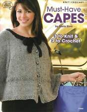 NEW KNIT/CROCHET MUST-HAVE CAPES 3 KNIT 3 CROCHET