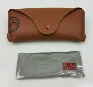 New authentic Ray-Ban brown leather case - cleaning cloth only